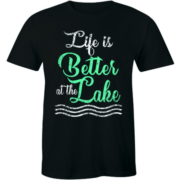 Half It Other - Life Is Better At The Lake Cottage Fishing T-shirt